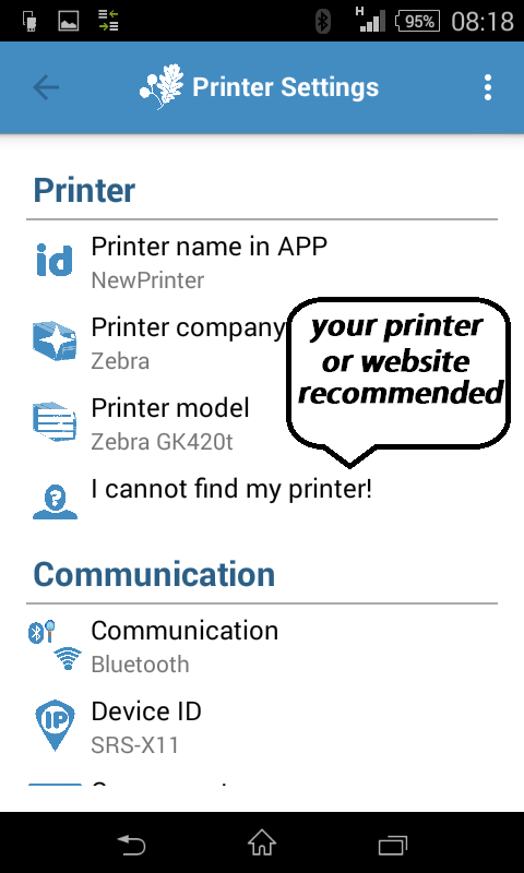 Redirect to your printers